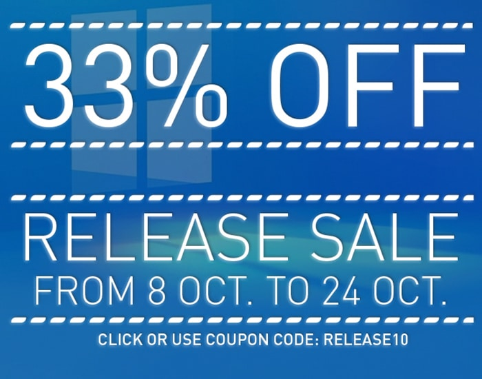 WINNC RELEASE SALE – 33% OFF – FROM 08 OCT TO 24 OCT
