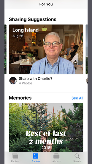 Photos Sharing Suggestion