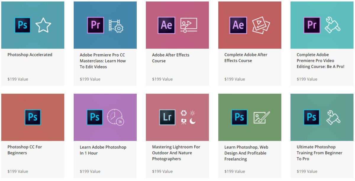 The Complete Adobe Mastery Bundle online courses
