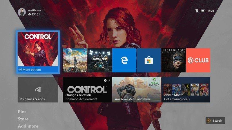 Xbox One February Update Home Menu