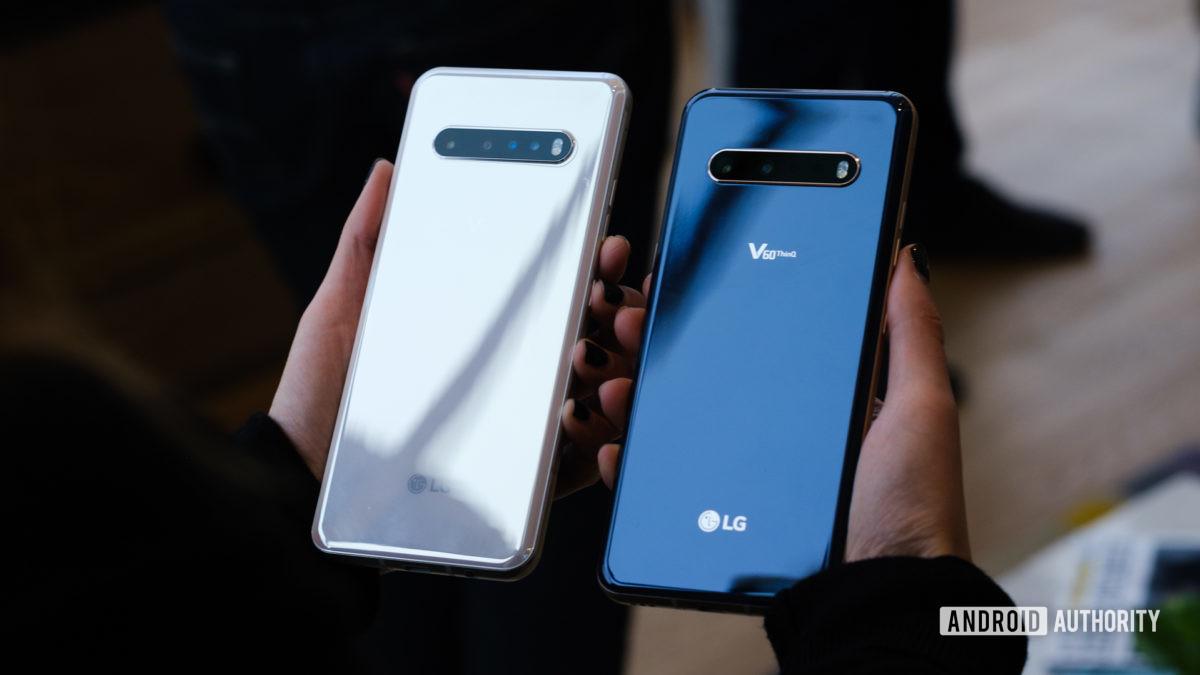 LG V60 both colors back in hand 1