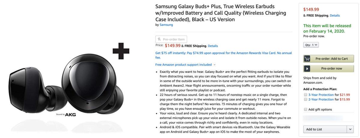 buy samsung galaxy buds plus amazon true wireless earbuds