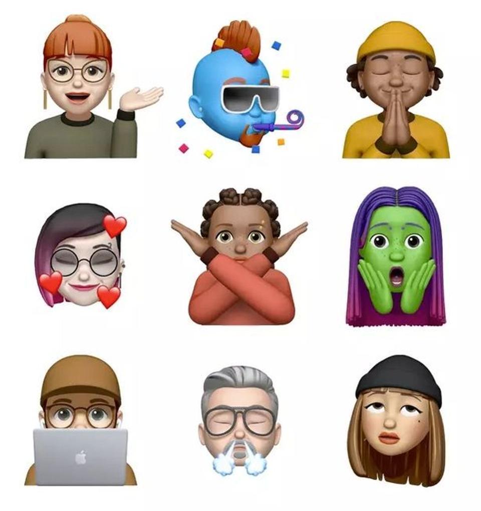 New Memoji for iOS 13.4
