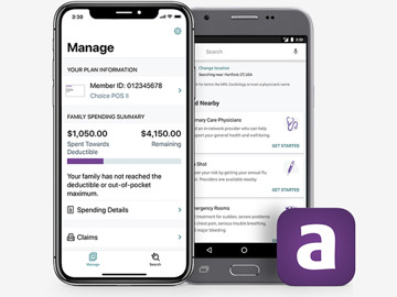 Aetna is just an example. Download the app created by your own health care providers.