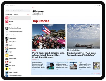 Apple News is free, easy to use and probably already on your Apple devices.