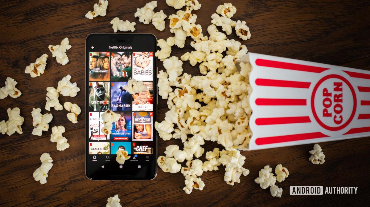 Netflix Originals next to popcorn stock photo 6