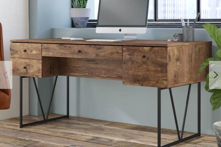Trent Austin 4-Drawer Writing Desk Granite