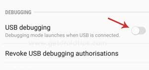 samsung usb debugging