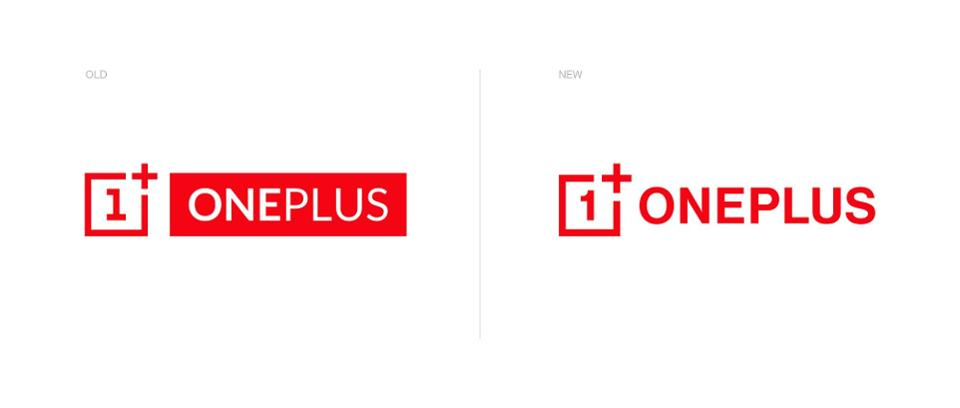 The old (l) and the new (r) OnePlus logos