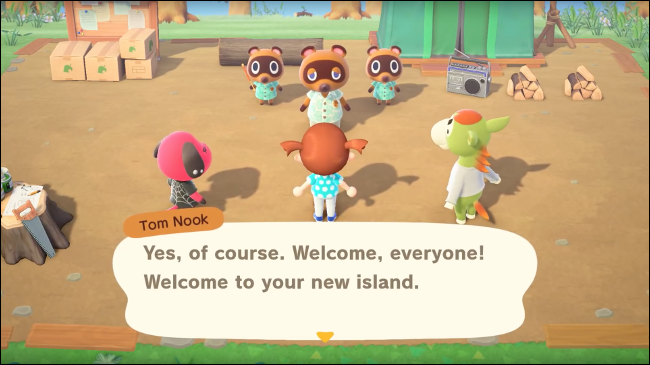 a group of animals in Animal Crossing: New Horizons
