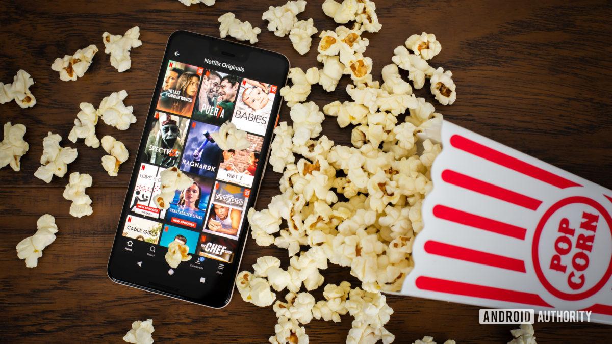 Netflix Originals next to popcorn stock photo 7