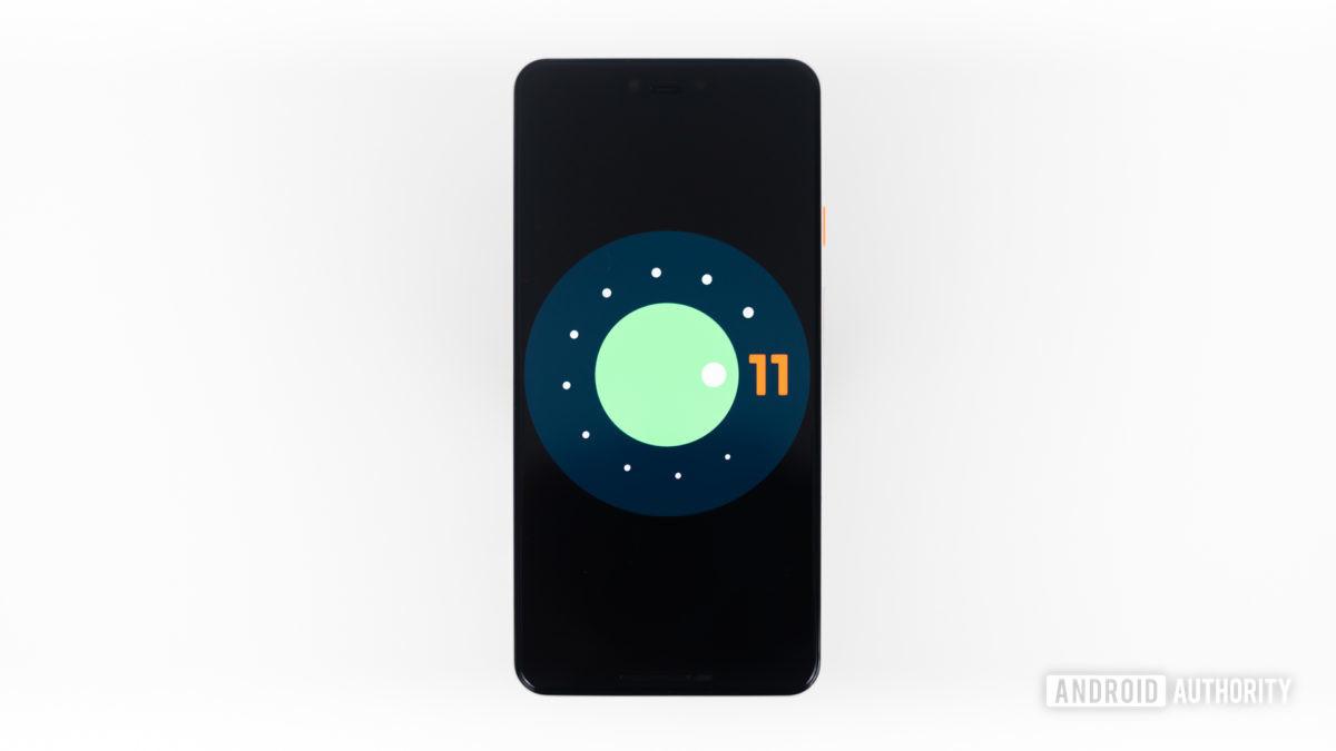 Android 11 logo stock photo 6