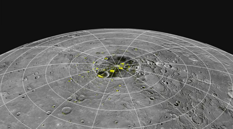 mercury, mercury ice, mercury poles ice shadow regions, heat forms ice on mercury, sun heat form ice on mercury