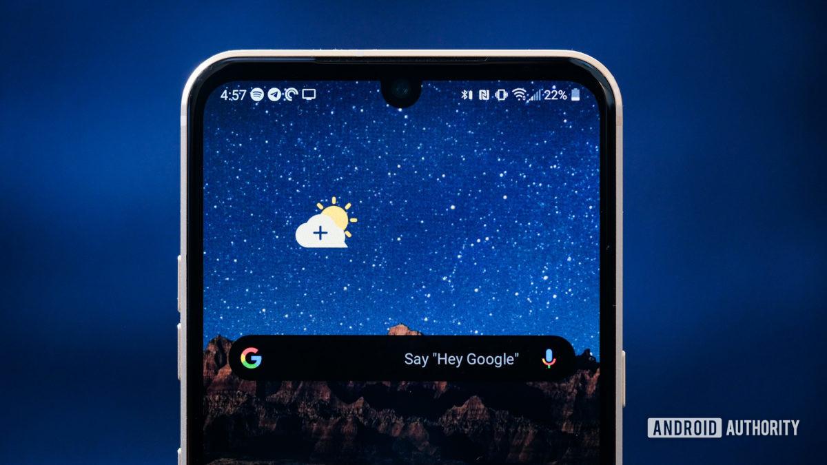 LG V60 top half of screen 1