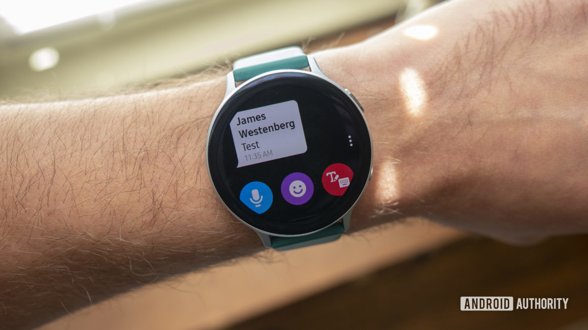 samsung galaxy watch active 2 review text message 1
