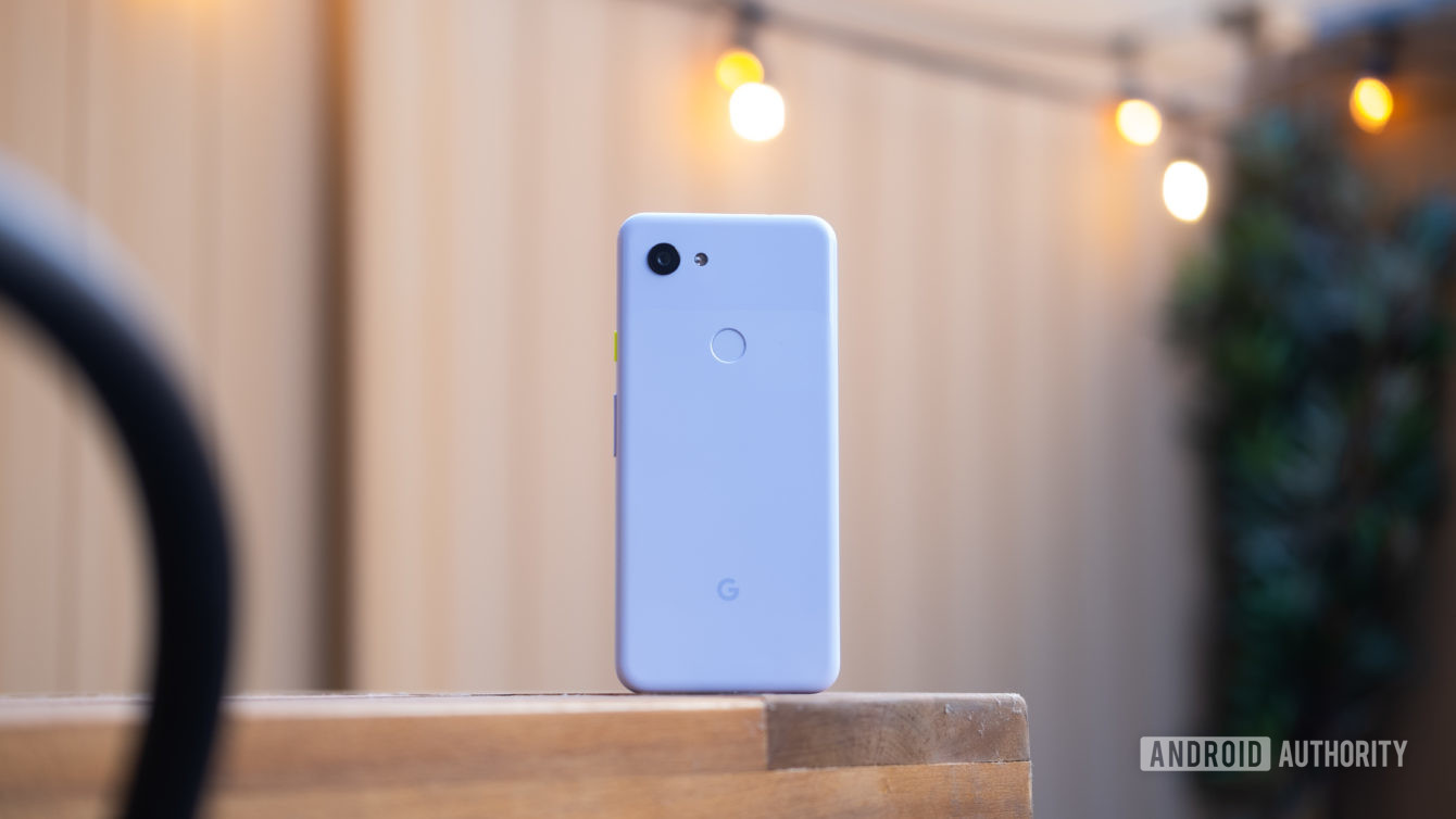 Pixel 3a back on table - best budget camera phones