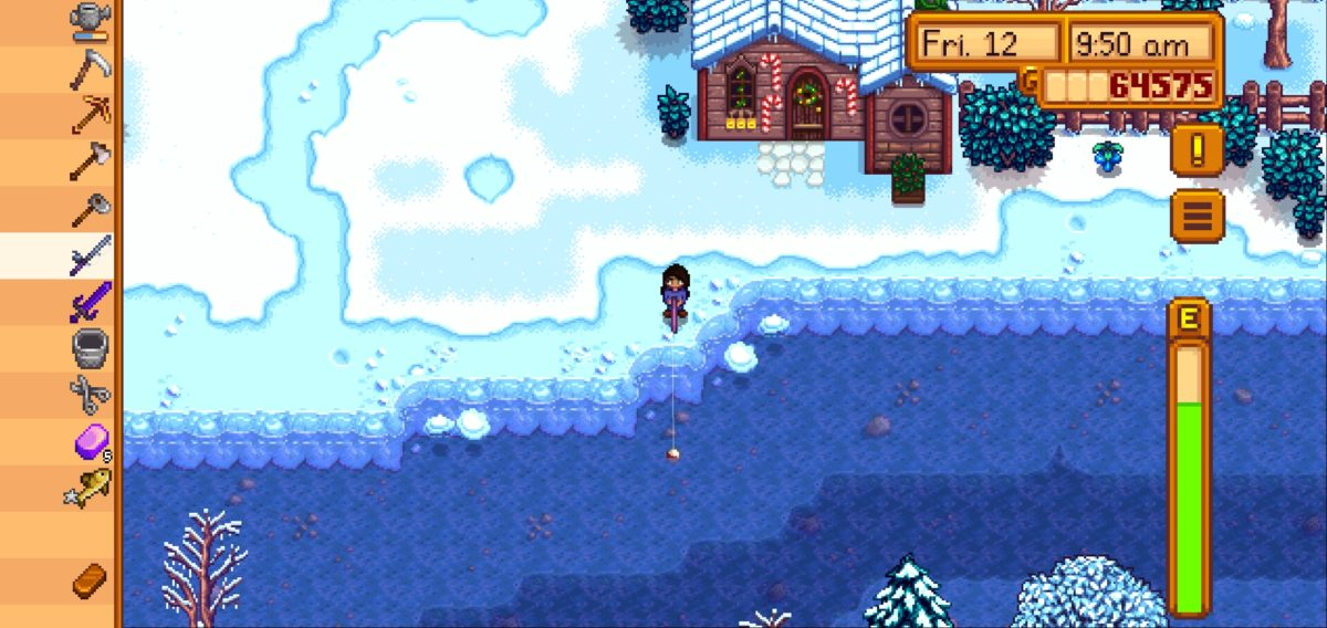 Stardew Valley fishing Leahs cabin