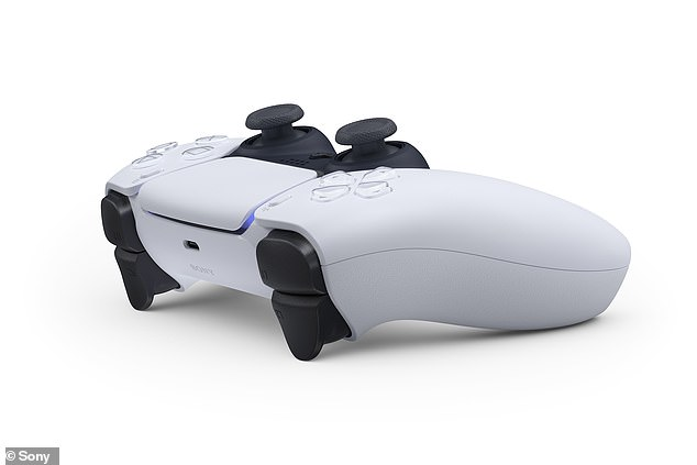 Sony has tweaked the design of of its next-generation controller, dubbing it the 'DualSense.' (pictured). The gaming titan unveiled the controller on Tuesday by surprise