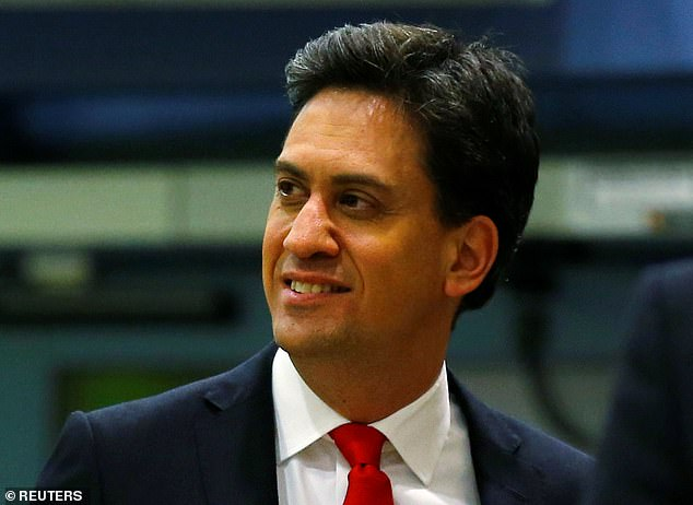 Former Labour leader Ed Miliband(pictured in 2015) said the Chancellor needed to move to a 100 per cent guarantee of loans for smaller businesses