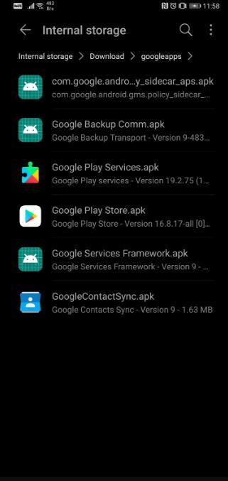 google apps huawei p40