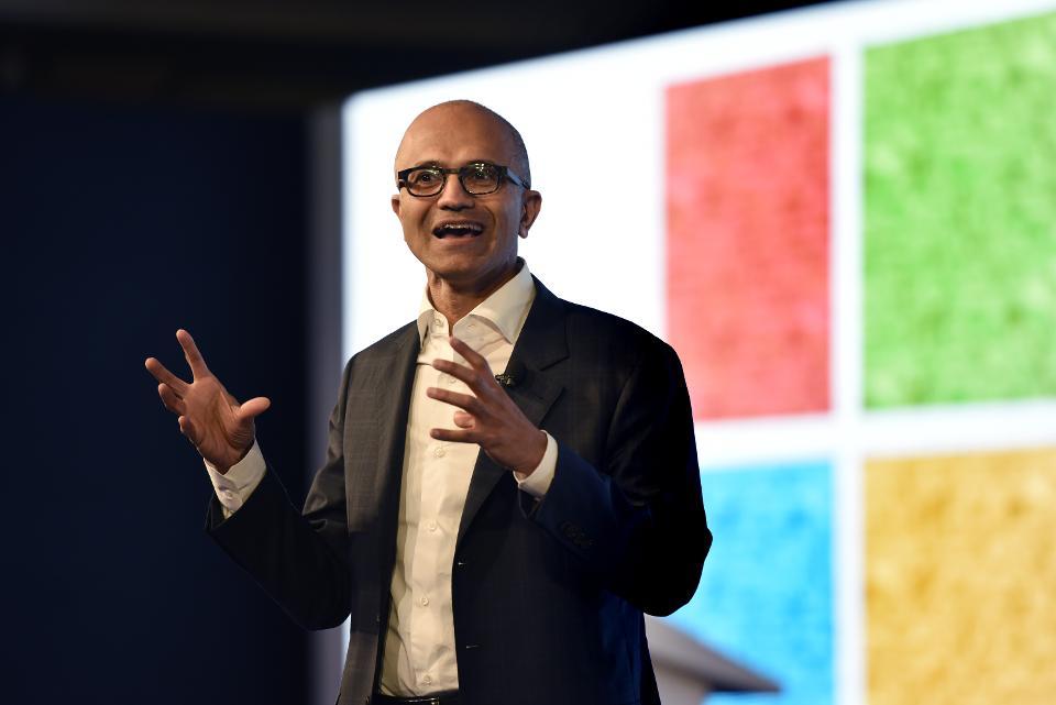 Microsoft CEO Satya Nadella In India At Microsoft India Programme