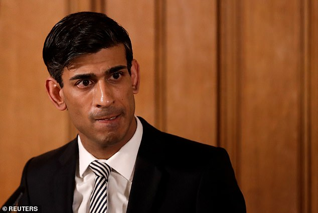 Chancellor Rishi Sunak (pictured in March)will today announce a further £1.25billion package to support innovative firms hit by the coronavirus lockdown