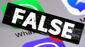 False stamp over social media apps