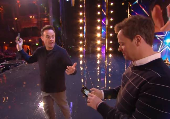 Ant and Dec were stunned. Credit: ITV