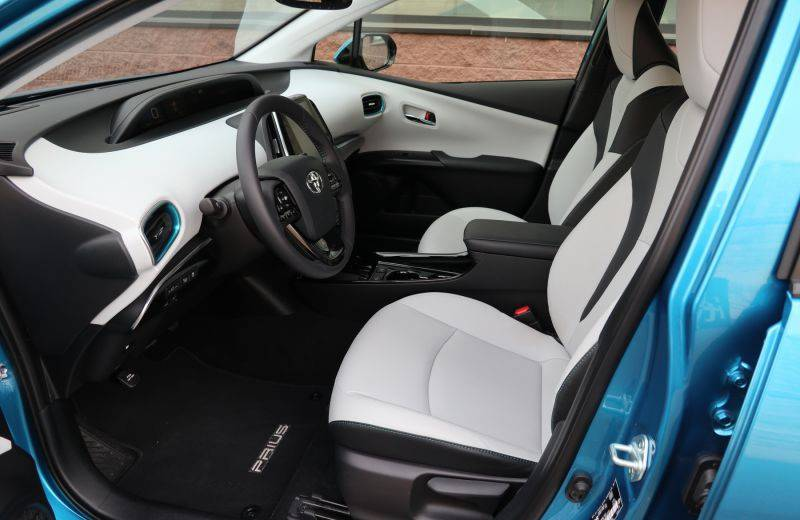 A peek inside the 2020 Toyota Prius Technology AWD-e.— Jil McIntosh/Postmedia