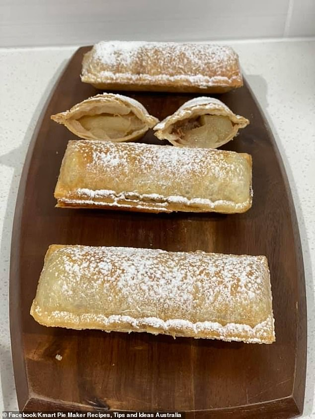 The four ingredients included a tin of pie apples from Woolworths, sultanas, cinnamon and sugar