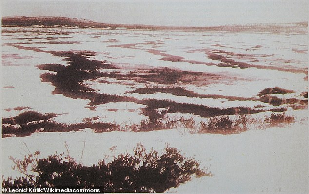 The area of Topi Tunguski, taken from the magazine Around the World, 1931. The original photo was taken between 1927 and 1930