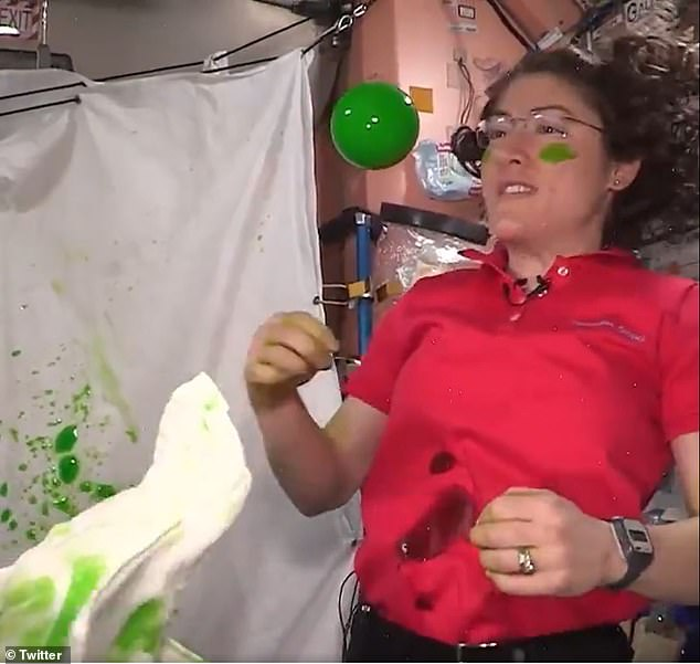 The experiment, titled 'Non-Newtonian Fluids in Microgravity,' set out to examine the properties of slime in microgravity while performing fun stunts with the goo