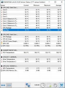 Huawei MateBook X Pro idle temperature