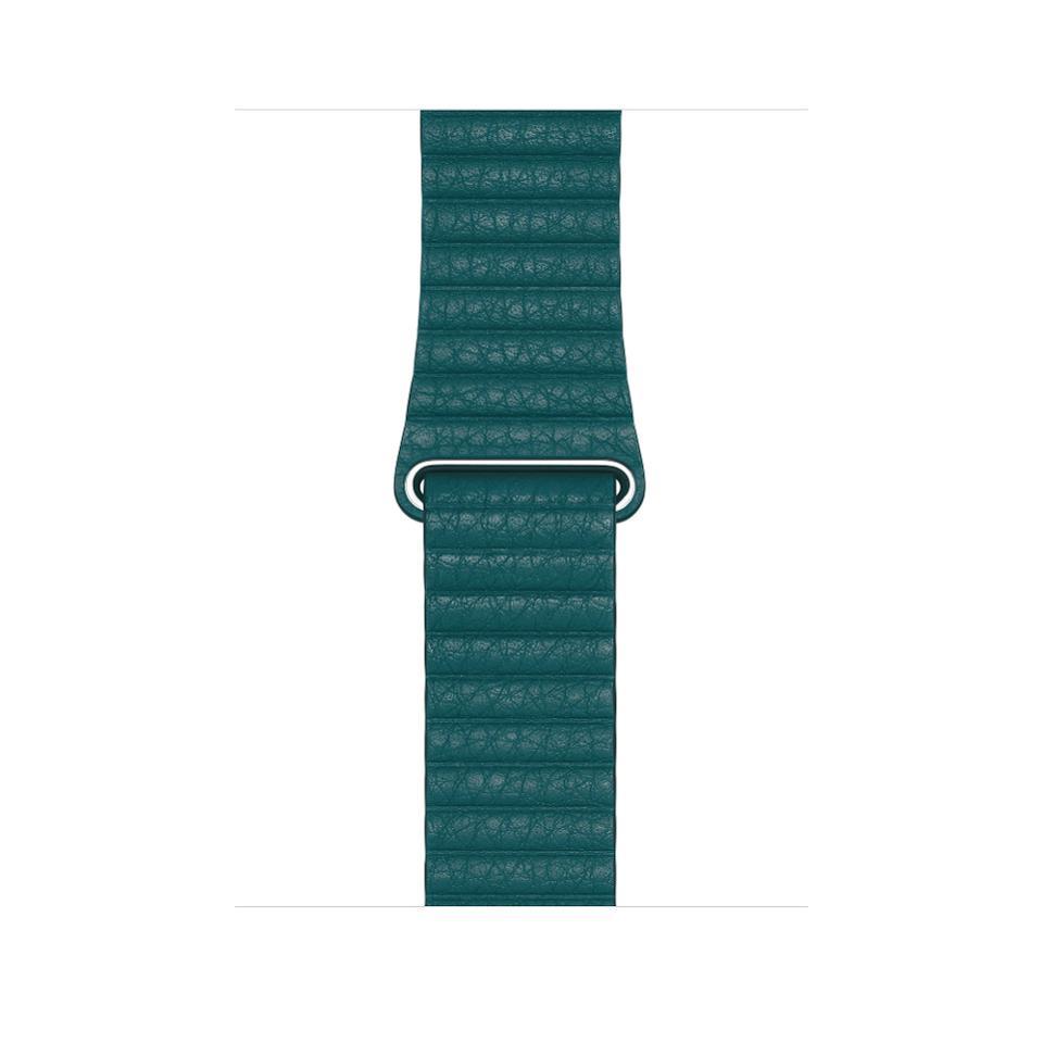 Apple Watch Leather Loop in Peacock