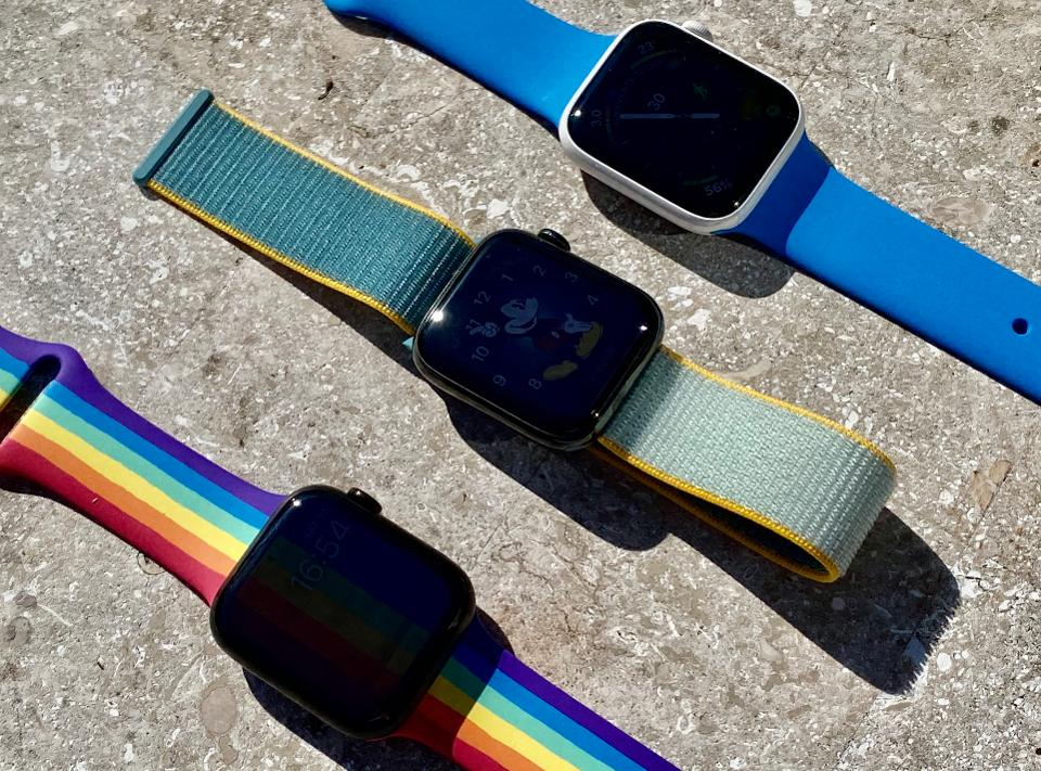 Three of the new Apple Watch Bands for Spring 2020