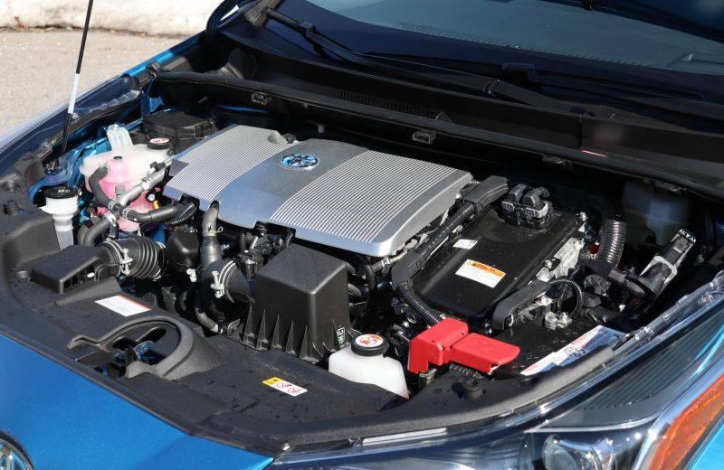 Under the hood of the 2020 Toyota Prius Technology AWD-e. — Jil McIntosh/Postmedia