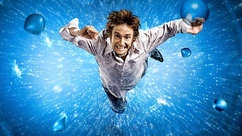 Richard Hammond falling into water.