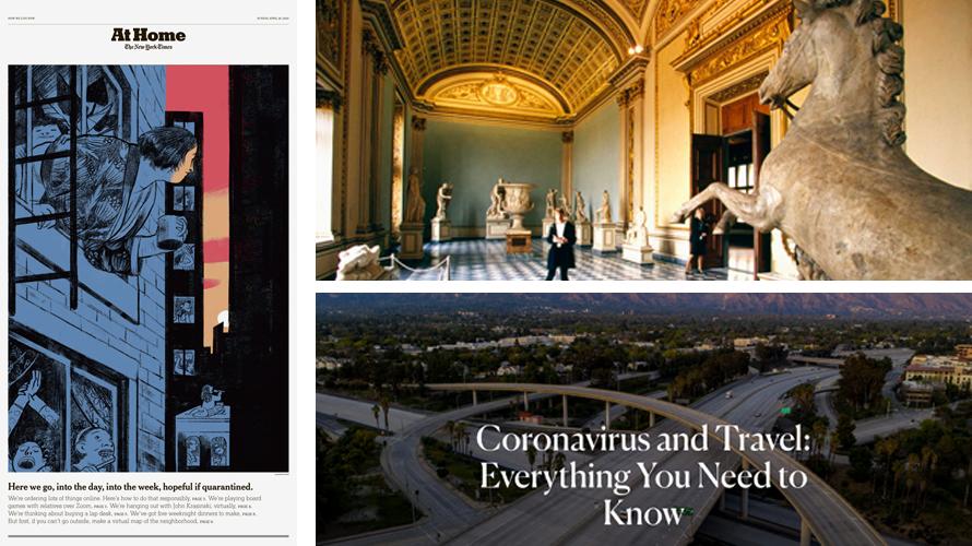 three screengrabs of virtual museum tours