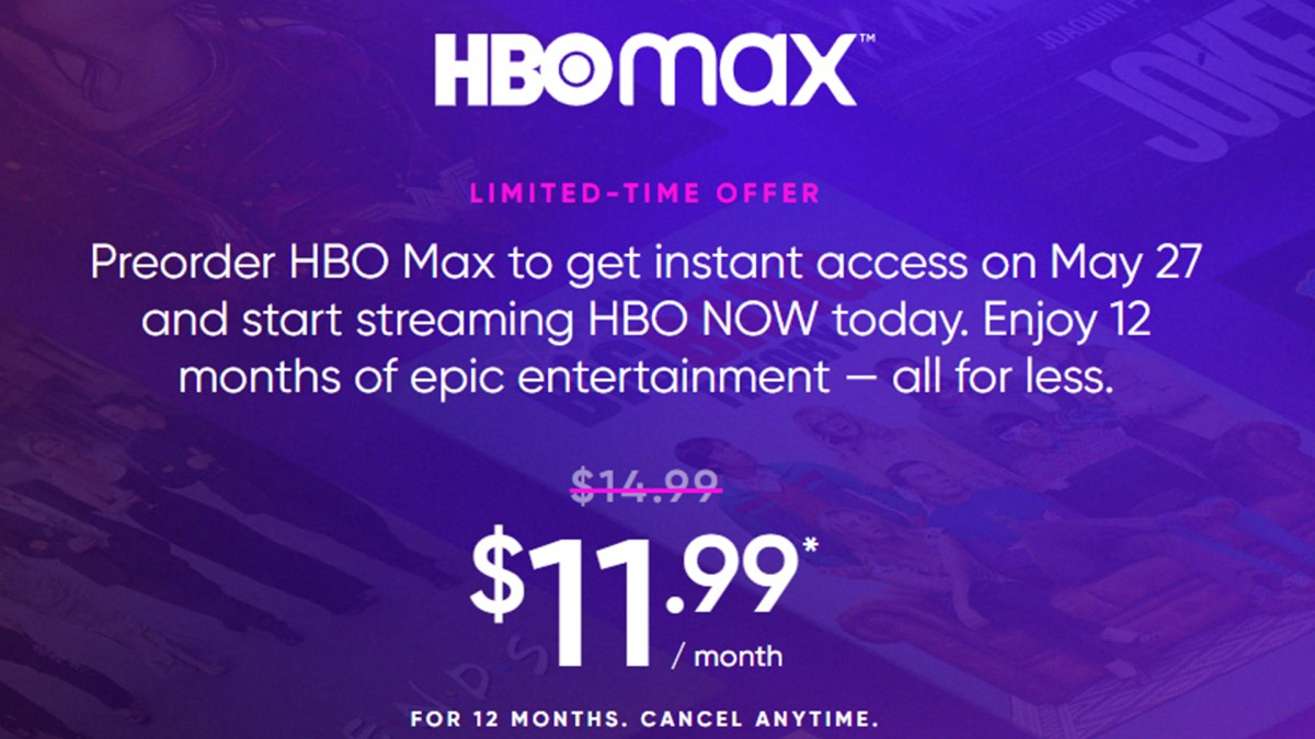 A screenshot of the HBO Max website.