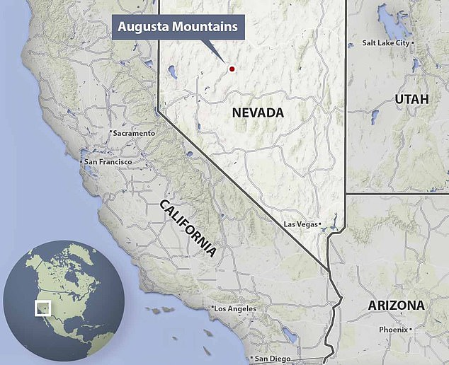 Sander found the remains of Martina at an excavation site in the Augusta Mountains, 150 miles (241 kilometers) east of Reno