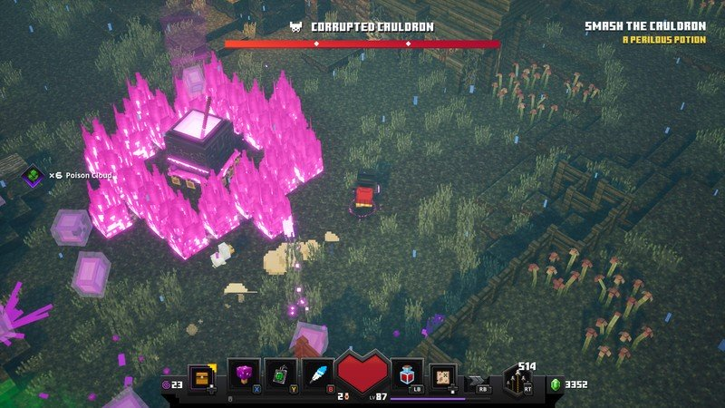 Minecraft Dungeons Boss Corrupted Cauldron
