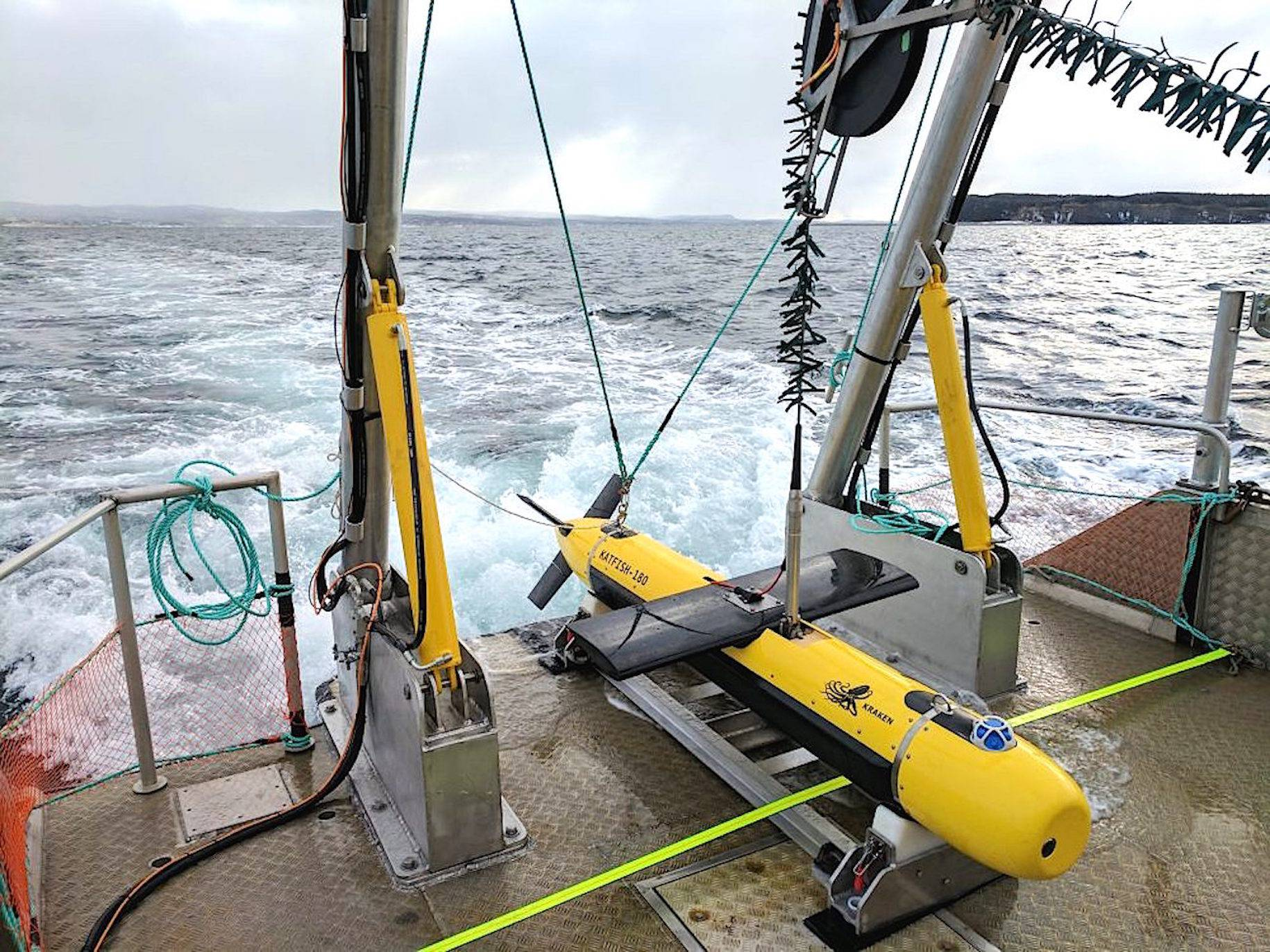 Kraken Robotic's Katfish, a high-speed device used to map the ocean bed in ultra-high definition. Kraken has delivered two Katfish to an American customer specializing in underwater security. The second sale was a big factor in Kraken's financial report for the opening quarter of 2020, which showed the Mount Pearl-based company with a net profit for the first time. - Contributed