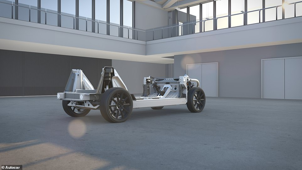 The prototype features an aluminum body designed to add the least amount of bulk to the already heavy vehicle, while special quiet-running tyres would have masked the magnitude of the Dyson SUV and reduced rolling resistance to extend the car's zero-emission range
