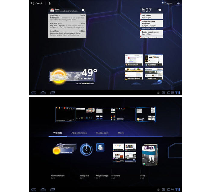 Android versions 3.0 3.1 3.2 Honeycomb