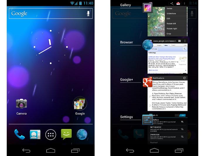 Android version 4.0 Ice Cream Sandwich