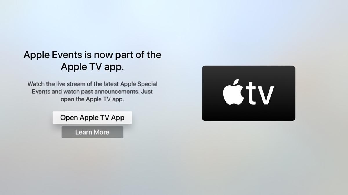 appletv event notification