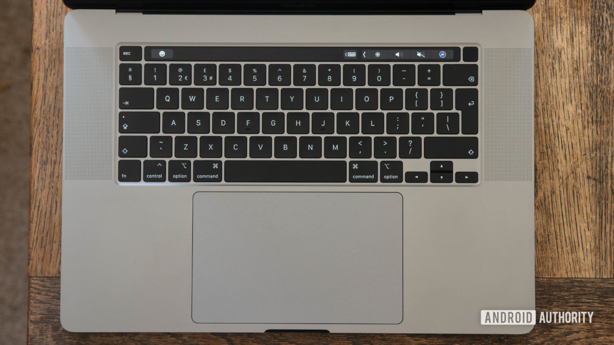 16 inch MacBook Pro Keyboard and trackpad