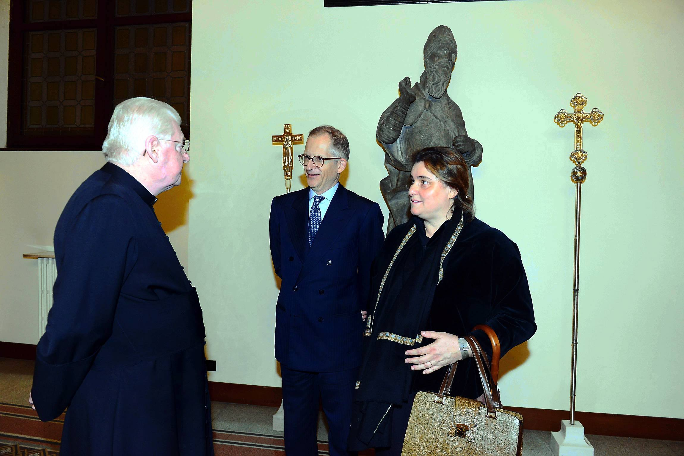Closure of the canonization process for Carlo Acutis, Cardinal Angelo Scola with Parents of Carlo