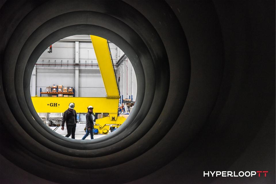 Inside view of the Hyperloop tube