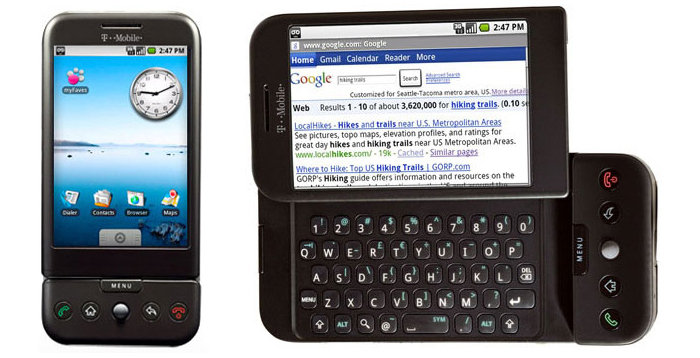Android version 1.0 on early smartphones